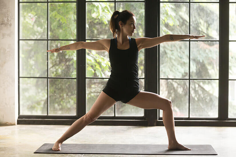 warrior II virabhadrasana II a popular yoga pose to boost fertility