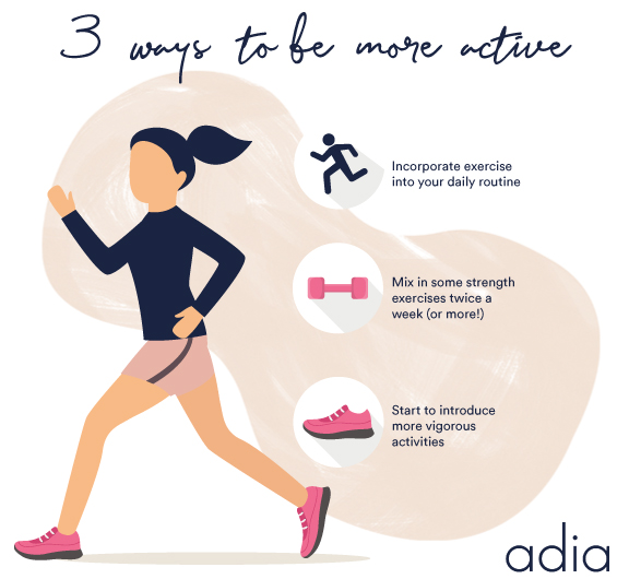 3 ways to be more active